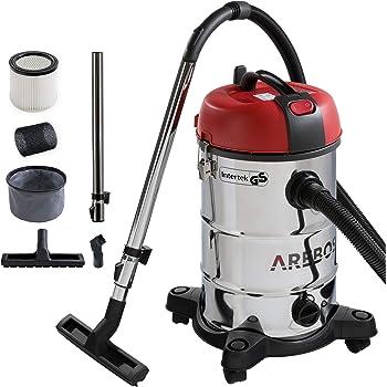 Arebos - Aspiradora industrial para limpieza en seco y húmedo (también se puede utilizar como aspirador de