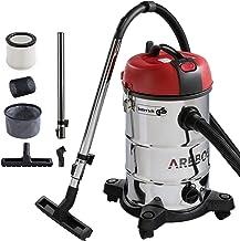 Arebos Industriële stofzuiger voor natte en droge reiniging | ook als aszuiger inzetbaar | 4-in-1 zuiger | vermogen 1800 W...