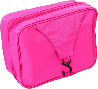de7f622a3581 HDE Personal Travel Shower Organizer Hanging Toiletry Wash Bag Bathroom  Tote (Hot Pink)