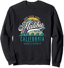 Retro Malibu California Sun Sand Surf Beach Palm Trees Gift Sweatshirt