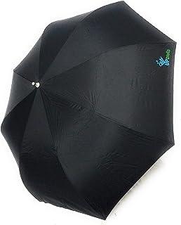 Upbrella Double Layered Upside Down Inverted Umbrellas Sturdy Metal Handle Wind Proof Easy Dry (Black)
