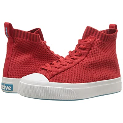 Native Kids Shoes Jefferson 2.0 High Lite (Little Kid) (Torch Red/Shell White) Kids Shoes