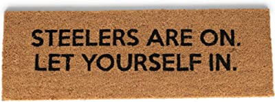 47th & Main Coir Door Mat, 37 x 10-inches, Steelers