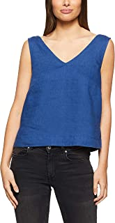Jag Women's JESS V Neck Tencel TOP, MID Blue WASH