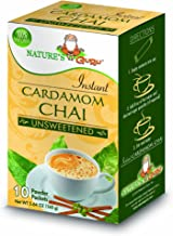 Nature's Guru Instant Cardamom Chai Tea Drink Mix Unsweetened 10 Count Single Serve On-the-Go Drink Packets
