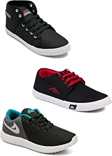 Asian Men's Casual Shoes Combo Pack of 3-0501-M11N10