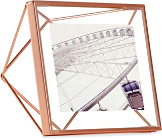 Umbra Prisma Picture Frame, 4 x 4 Photo Display for Desk or Wall, Copper