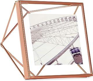 UMBRA Prisma Cadre photo filaire en métal entre deux-verres Prisma, poser ou à accrocher, Pour 1 photo 10x10cm cuivre