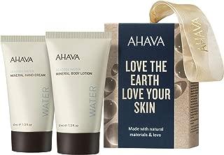 AHAVA Dead Sea Mineral Hand Cream and Mineral Body Lotion Set, 1.3 Fluid Ounce, 2 Count