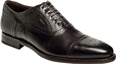 Anthony Veer Men's York Cap-Toe Quarter Brogue Dress Shoe in Premium Italian Leather Goodyear Welted