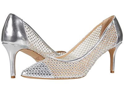 Jewel Badgley Mischka Floria (Silver/Nude) Women