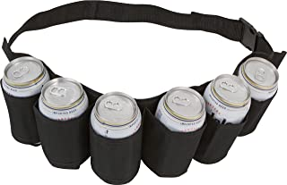EZ DRINKER Beer and Soda Can Holster Belt, Pack of 6