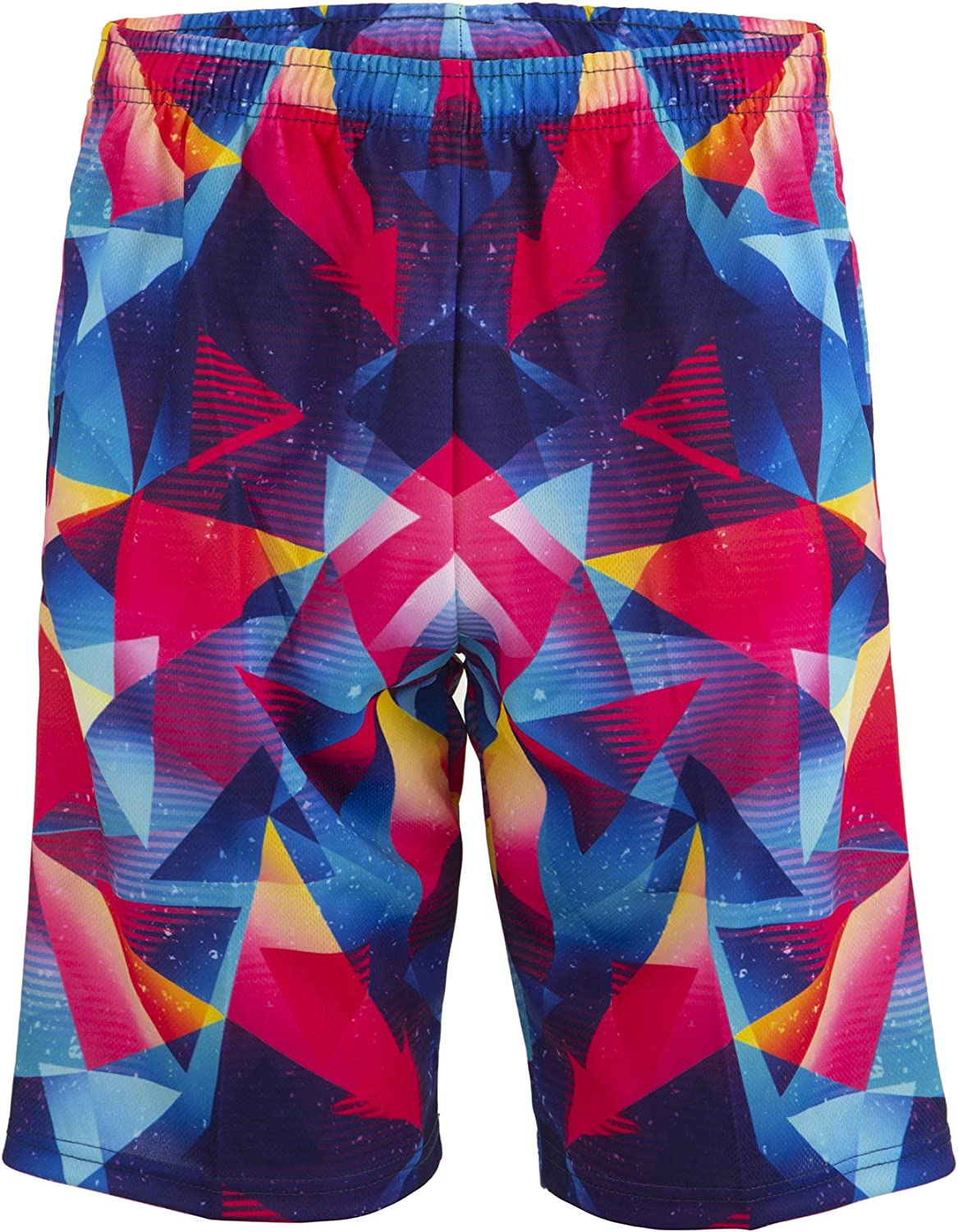 Lacrosse Shorts With Bright Triangles, Knee Length and Deep Pockets (youth
