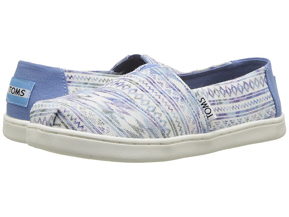 TOMS Kids Alpargata (Little Kid/Big Kid) (Aqua Ethnic Tribal) Girl