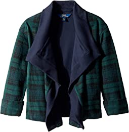 Polo Ralph Lauren Kids - Tartan-Print Fleece Cardigan (Little Kids)