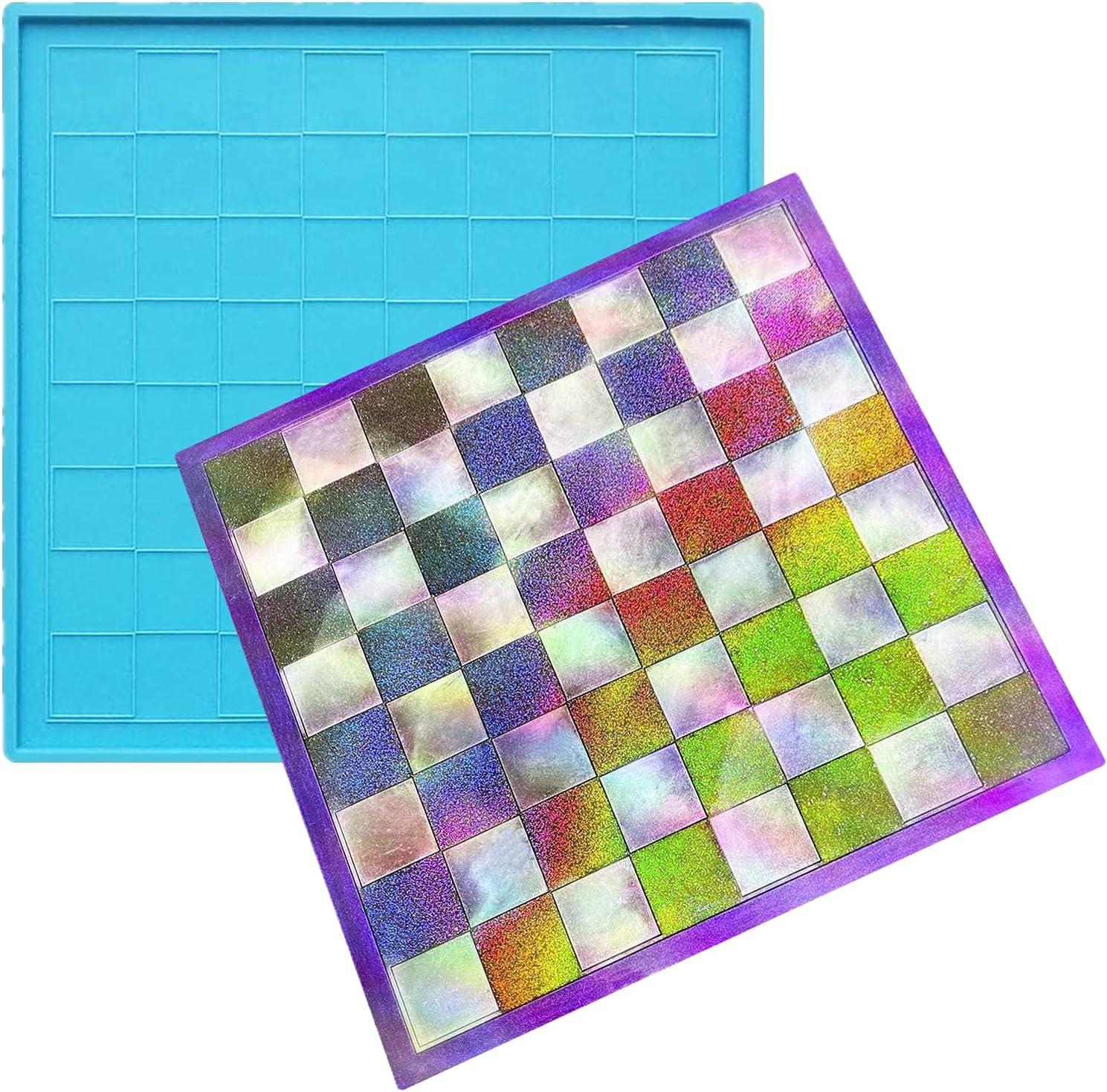 Chess Board Resin Mold New sales Checkers Silicone DI Epoxy Albuquerque Mall for