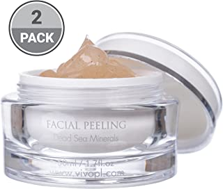Vivo Per Lei Facial Peeling Gel - Face Peel Containing Dead Sea Minerals And Nut Shell Powder - Exfoliating Gel And Blackhead Remover - Get Your Mojo Skin With This Facial Peel - (Pack of 2)