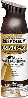 Rust-Oleum 271472 Universal All Surface Spray Paint, 11 oz, Flat Metallic Burnished Amber