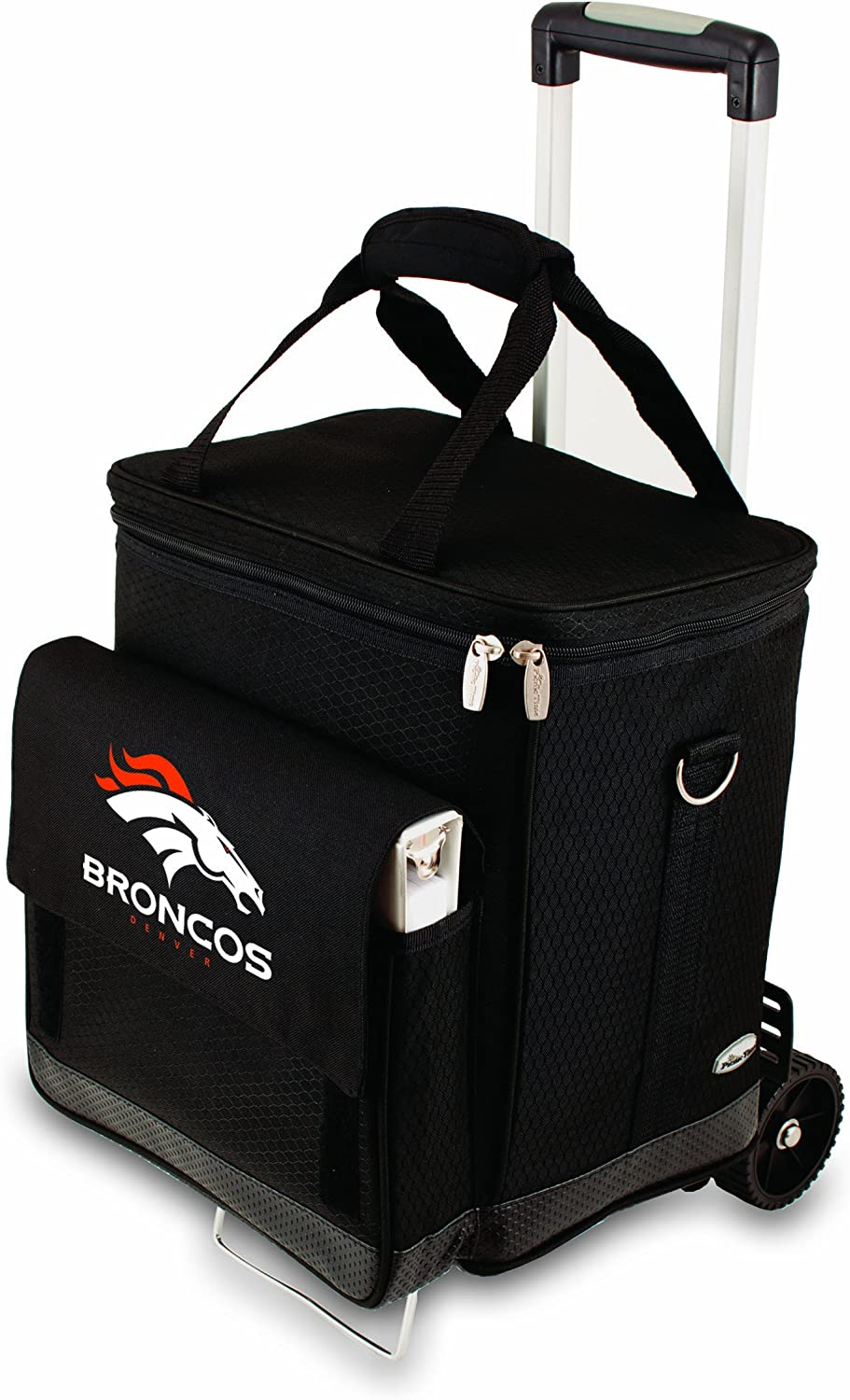 NFL Denver Broncos Insulated Cellar Six Bottle Wine Tote with Trolley