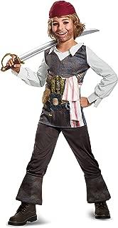 Disguise POTC5 Captain Jack Sparrow Classic Costume, Multicolor, Small (4-6)