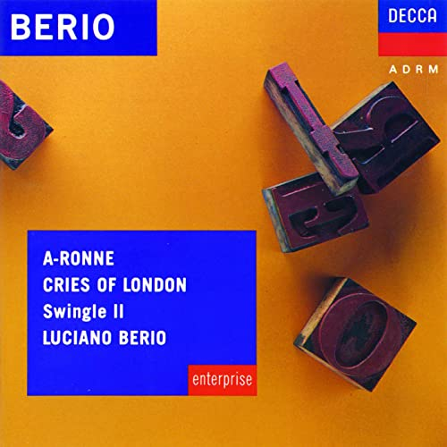Berio: A-Ronne; Cries of London de Swingle II & Luciano Berio en Amazon  Music - Amazon.es