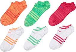 adidas Kids - Superlite 6-Pack No Show (Little Kid/Big Kid/Adult)