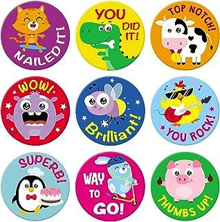 Sweetzer & Orange Reward-klistermärken för lärare. 1008 klistermärken för barn i 9 mönster. 2,5 cm skolklistermärken på ar...