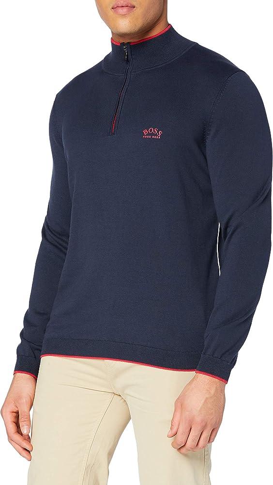 Hugo boss maglione felpa con scollo rotondo per uomo 100% cotone 50440712A
