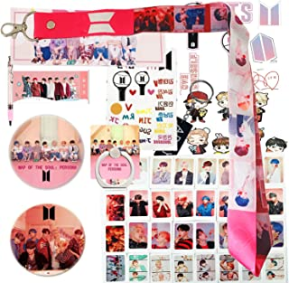 Gifts Set for Fans - 1 Support Banner, 1 Support Pen, 32 Lomo Cards, 3 Stickers, 1 Lanyard, 2 Button Pins, 1 Phone Ring Stand, 1 Keychain