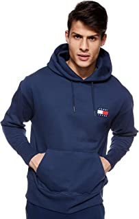 Tommy Jeans Men's TJM Tommy Badge Hoodie, Blue (Black Iris 002), Medium