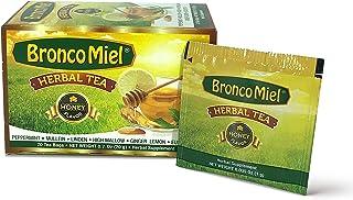 BRONCOMIEL Tea Bags – Honey Herbal Tea for Coughing and Soreness – Eucalyptus, Ginger and Lemon Tea – Sweet Honey Flavor –...
