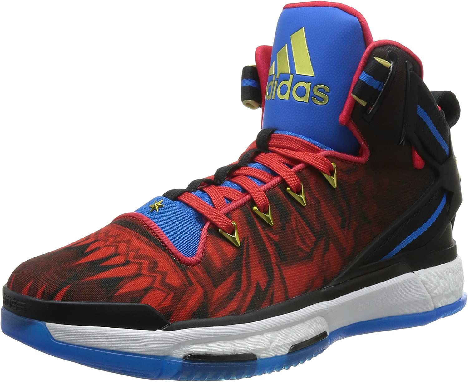 Adidas Performance Mens D pink 6 Boost Basketball Hi Top shoes - Red