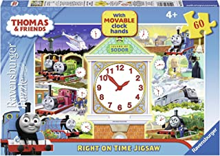 Ravensburger Thomas & Friends Right on Time Puzzle with Movable Clock Hands, 60-Piece
