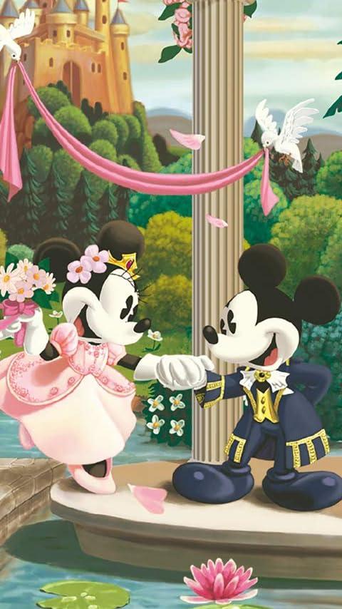 ディズニー ミッキー,ミニー ウェディング XFVGA(480×854)壁紙画像