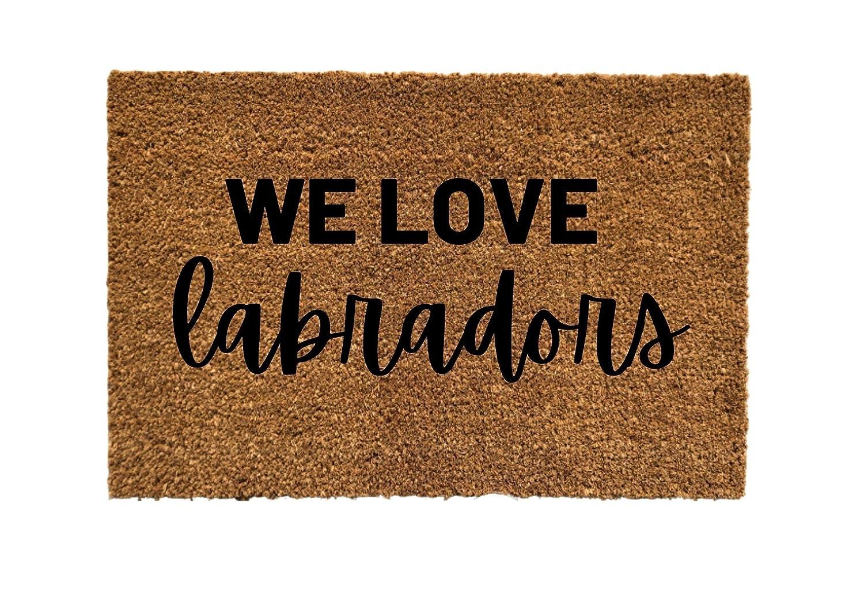 We security Love Labradors Door Be super welcome Doormats Welcome mats