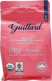 GUITTARD Organic 74% Chocolate Baking Wafers, 12 OZ