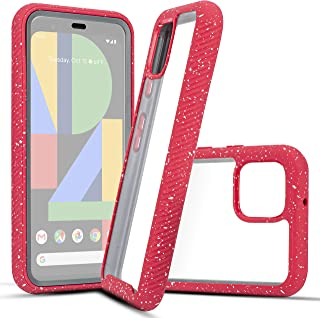 """Customerfirst for Google Pixel 4 (5.7"""" Screen) Full Body Rugged Crystal Clear Case Transparent View Dual Layer Enclosure C..."""
