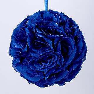 Simply Elegant Royal Blue Pomander Kissing Ball Flower 10