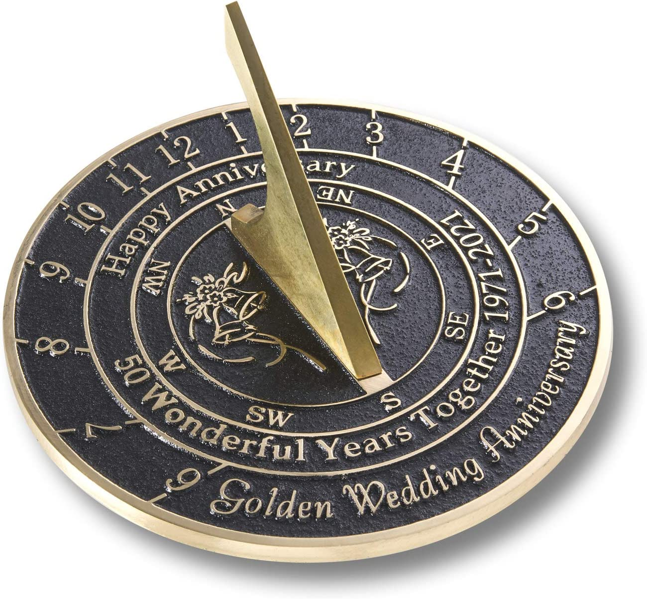The Metal Foundry 50th New item Golden G Max 53% OFF Wedding Anniversary 2021 Sundial