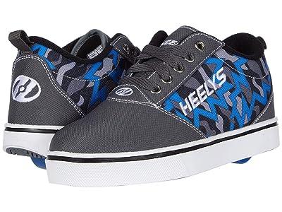 Heelys Pro 20 Prints (Little Kid/Big Kid/Adult) (Charcoal/Blue/Black) Boys Shoes