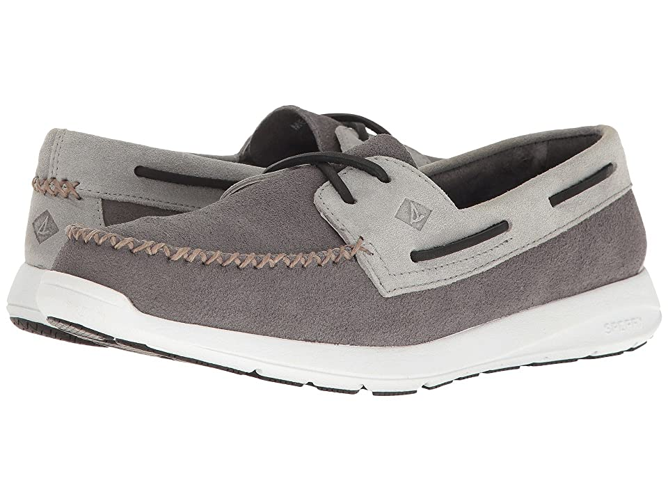 Sperry Sojourn Leather 2-Eye (Charcoal/Ash) Men