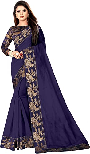 Wazood Women's Woven Chanderi Saree With Blouse Piece