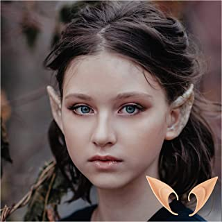 AIYUE 2 Pair Soft Elf Ears Vampire Ears Cosplay Accessories Fairy Pixie Pointed Prosthetic Ear Set