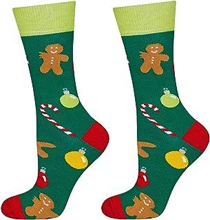 soxo, Calcetines Navideños de Colores para Hombre | talla 40-45 EU | Calcetines con Dibujos Originales para Hombres | Divertido Regalo Navideño | Calze Caliente Algodón | Invierno y Navidad