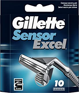 Gillette Sensor Excel Comfort Blades, 10 Count