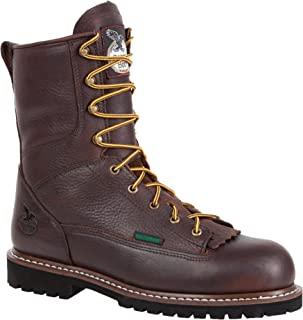 Georgia Men's Waterproof Low Heel Steel Toe Logger Work Boot-G103