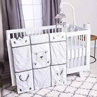 Trend Lab 3 Piece Crib Bedding Set, Peek-A-Boo Forest