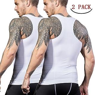 加圧インナー コンプレッションウェア シャツ タンクトップ メンズ お腹引き締め 筋肉 Tシャツ 2018 補正下着 姿勢矯正 スポーツウェア M L XL 2XL品質保証