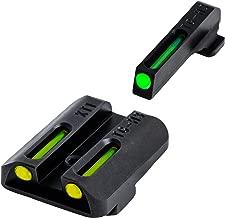 TRUGLO TFO Handgun Sight Set - Springfield XD, XDM, XDS - Green/Yellow Rear