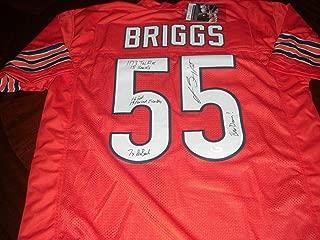 Lance Briggs Autographed Jersey - Full Stats Bear Down coa - JSA Certified - Autographed NFL Jerseys
